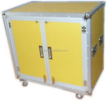aluminum liquid display screen case aluminum cases with fireproof shell and plywood
