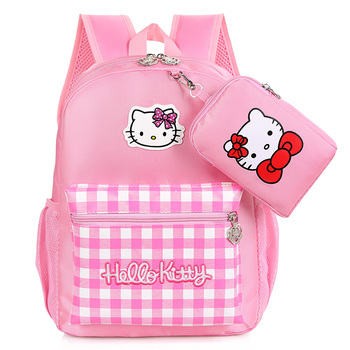 5fd128fd81 Hot sale cartoon hello Kitty cat school backpack bag pink backpacks for  girls