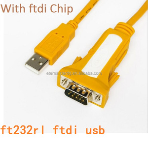 usb to db9 rs232 serial cable ftdi chip ft232rl ftdi usb to serial 1.8m 6feet green color in stock