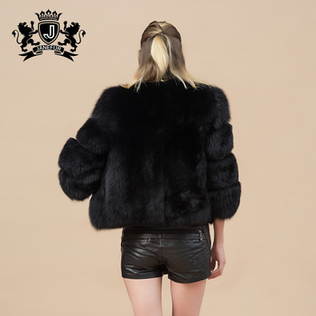 913b9d22c20 2017 Pakistan Popular Black Fox Fur Jacket Women Coats Winter - Buy ...