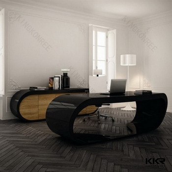 Black Marble Office Desk Modern