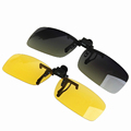 High Quality Flip Up UV400 Clip On Sunglasses Sports Driving Night Vision Lens Sun Glasses Anti