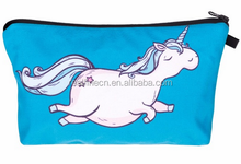 Hot-selling Travel 3D Printing Unicorn Cosmetic Bag Women Brand Small Makeup Case