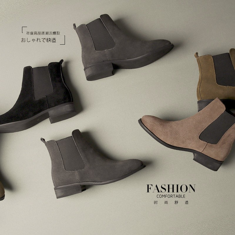 2016 Spring Autumn Wholesale Genuine leather women shoes fashion boots for women