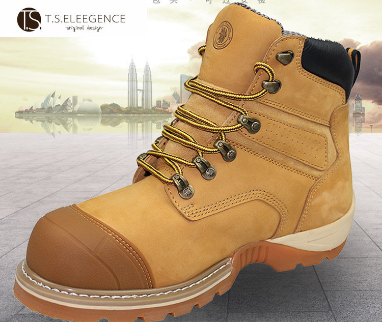Ec Certificated Welding Cat Nubuk Esd Safety Boots For Men Buy