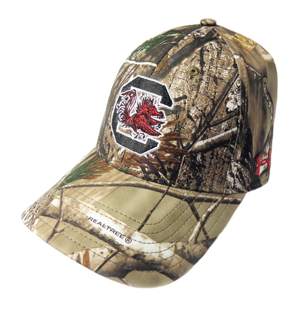 NEW Under Armour Heat Gear South Carolina Gamecocks Adjustable Camo Golf Hat/Cap