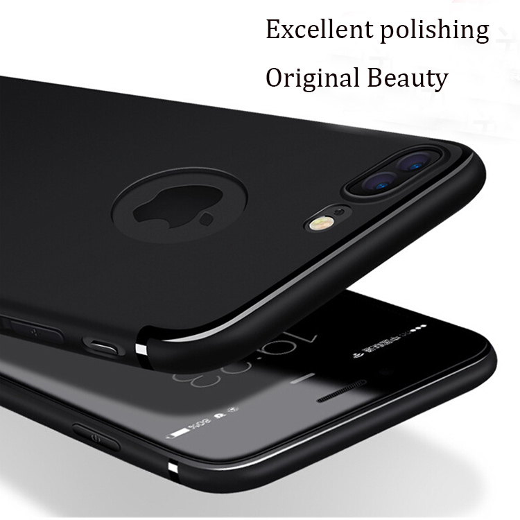 DFIFAN Unique design Ultra Thin Case for iPhone 7 plus,frosted black protective covers for iphone 7 plus case