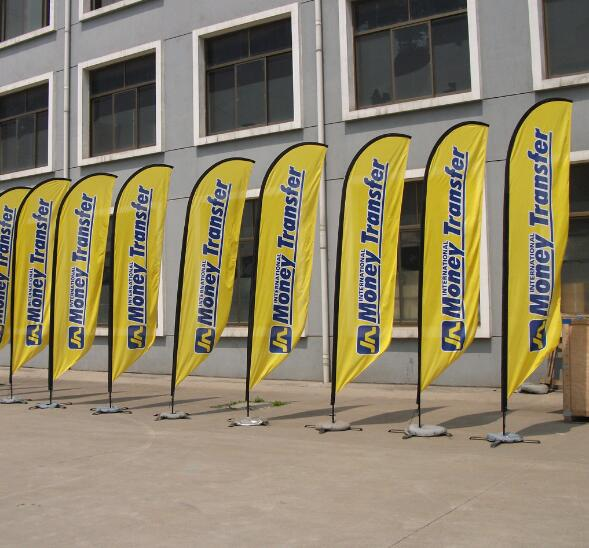 best selling Custom Printed custom advertising backpack teardrop beach flag with good service