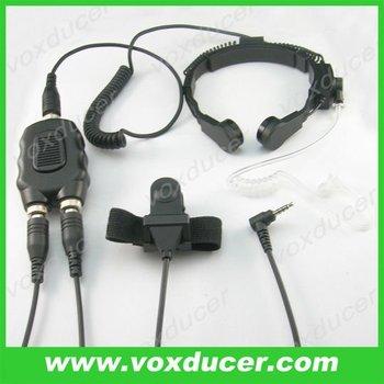 Pour Yaesu Vertex Militaire Radio Vx Amovible Moto Casque Throat
