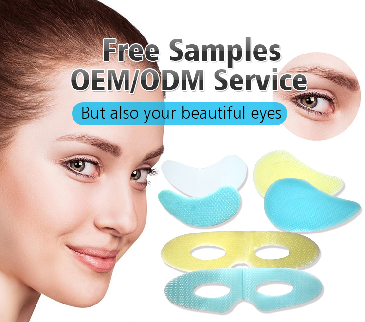 Free samples nourishing and anti wrinkle female ice cooling eye patch