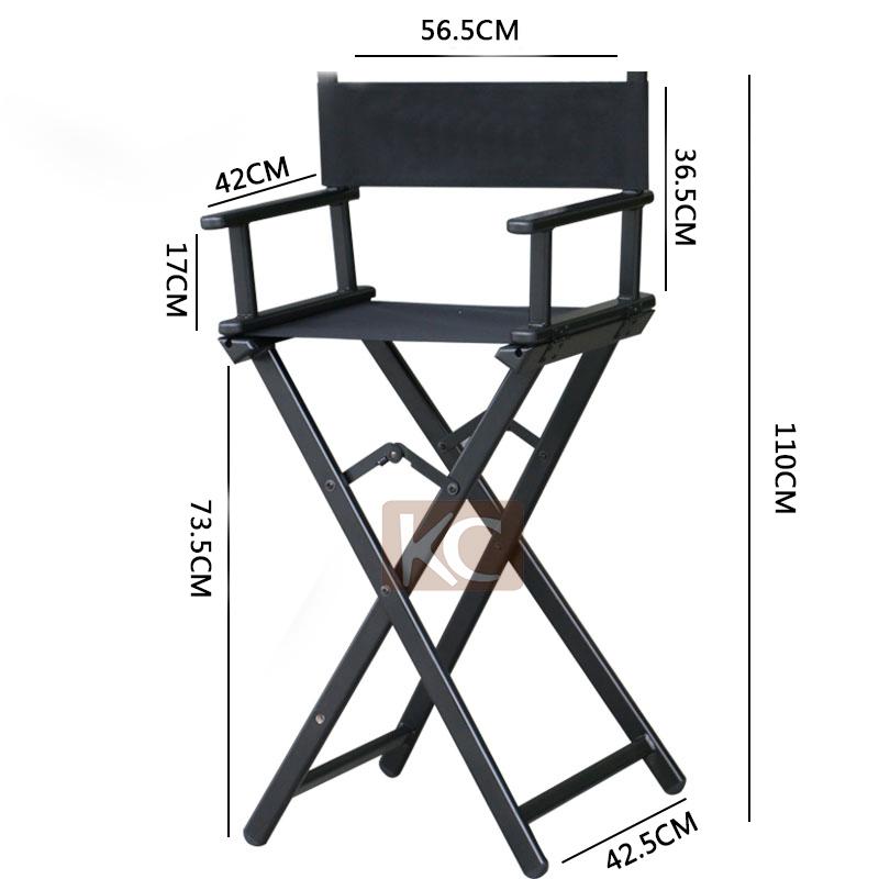 Lightweight Aluminum Folding/aluminium Frame Hairdresser Chair, Portable  Salon Chair Canvas Folding Chair