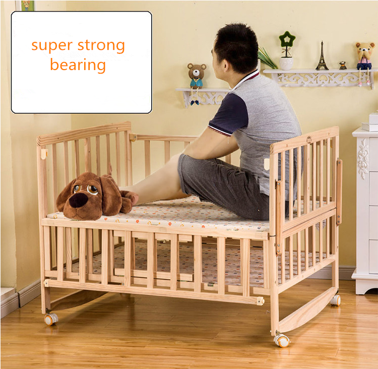Bedroom Big Size Wooden Baby Crib Furniture Setting For ...