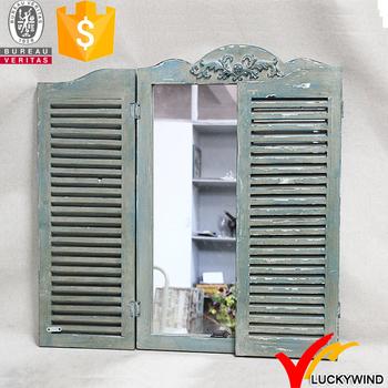 Dipinto A Mano Vintage Francese Grandi Specchi Da Parete In Legno Con  Persiane - Buy Specchio Da Parete Con Persiane Product on Alibaba.com