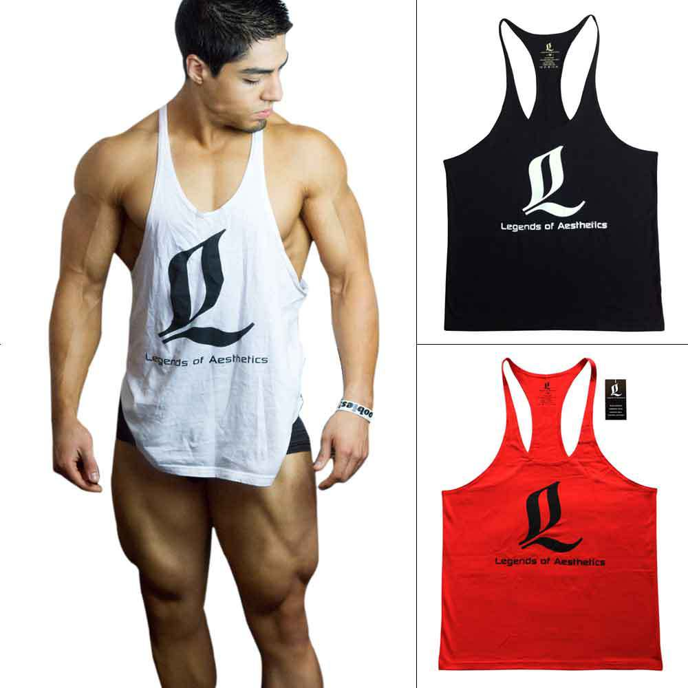 722a2df2994fa Buy LOA Golds Gym Tank Top Mens Fitness Bodybuilding Tanks Tops Men  Bodybuilding Undershirt Clothes Workout Sleeveless GASP academia in Cheap  Price on ...