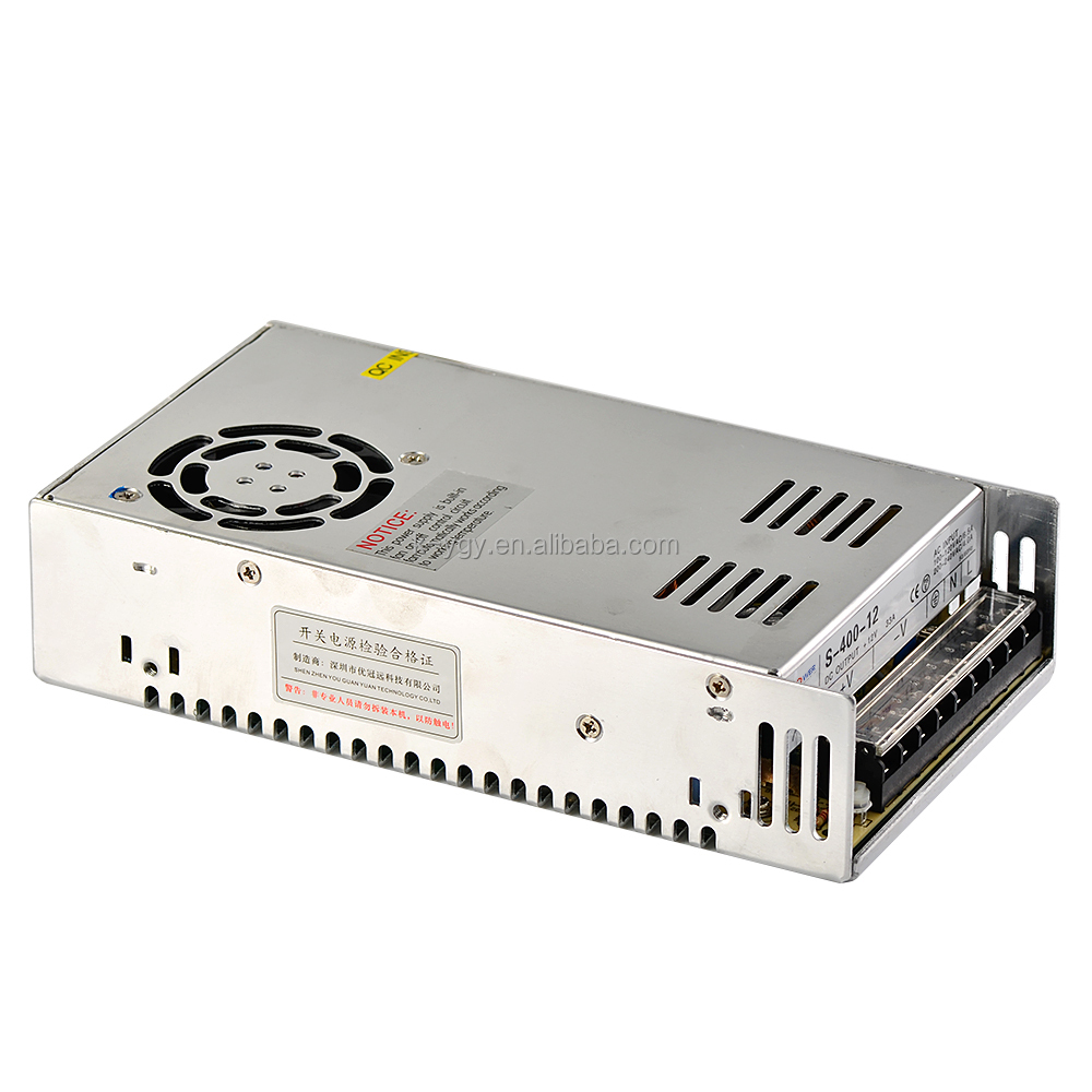 S-400-12 12v 33a 400w Regulated single output ac dc switching power supply with 2 years warranty