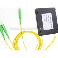Fiber optic 1x2 ABS box PLC splitter with SC connector for FTTH CATV Test equipment Security