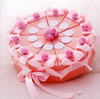 creative wedding favor chocolate box Contrast Color Flower Cake Shaped sweet Wedding Candy Box