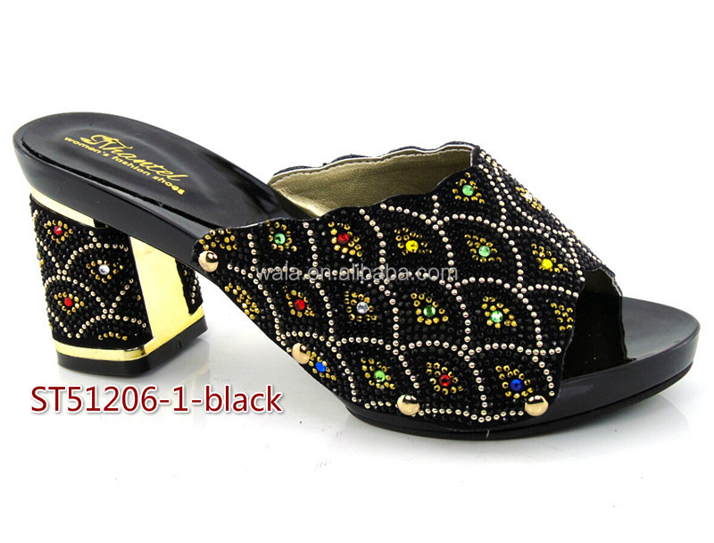 rhinestone Italian ST51206 with sandals royal square newset shoes blue 2 for lady PB6axnU