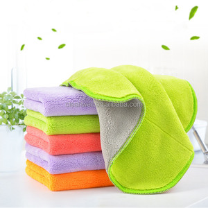 Double face coral velvet microfiber dish cleaning wipe
