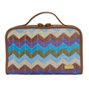 Chevron straw Weave Train Case Toiletry Bag For Travel