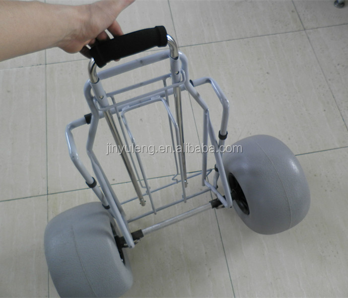 "12x7"" inflatable balloon beach cart wheel"