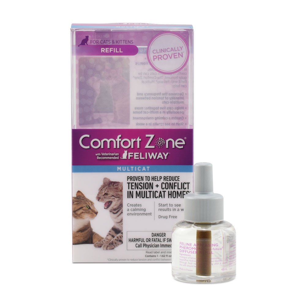 Comfort Zone Feliway Multicat Diffuser and Refill for Cat Calming