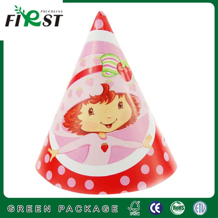 Happy Birthday Paper Hat/Crown first birthday party paper hat/Party printed paper hat