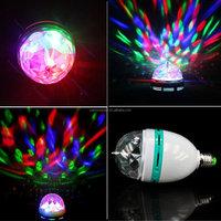 3w Led Rgb Rotating Bulb Light Rgb Led Disco Light Music Studio ...