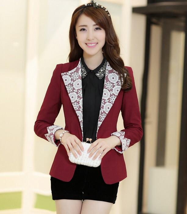 D36181a Gaya Korea Terbaru Fashion Wanita Renda Blazer Pendek Mantel Id Produk 1938527593