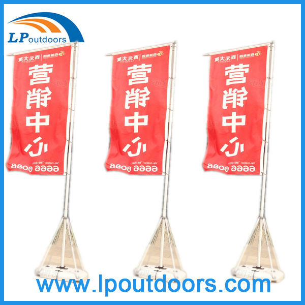 Water base flying flag banners for advertising