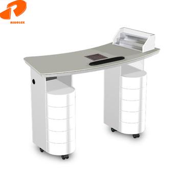 Painted Finish Acetone Proof Quartz Benchtop Nail Technician Tables ...