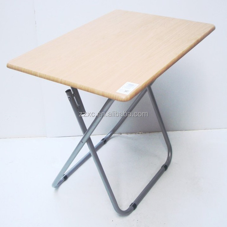 Wooden Foldable Table With Metal Frame
