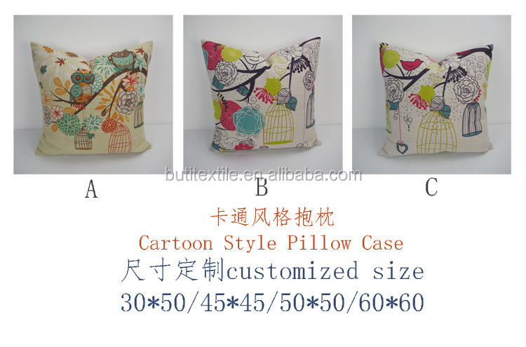Cute Cartoon Design Printed Cushion Pillow Office Chair Seat Cushion