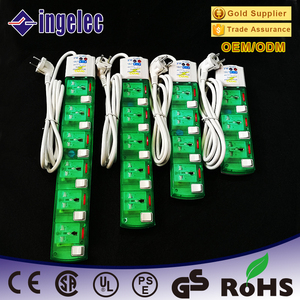 Hot Sale High Quality Germany Multi Way Switch Extension Socket Power Strip 16A 220V