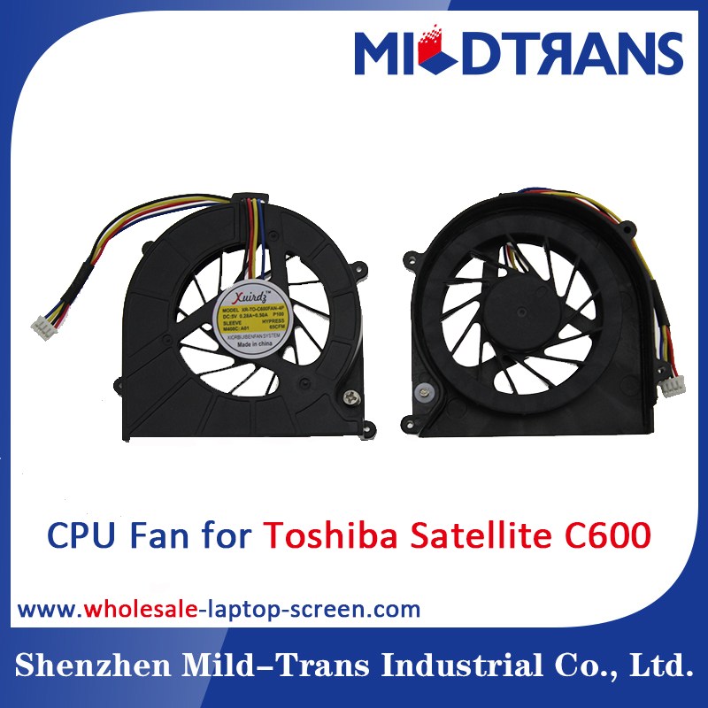 New Original Laptop CPU Cooling Fan With 4pins For TOSHIBA C600/C606/C640/L630/L635