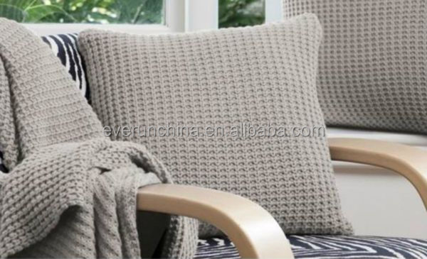 50db50 100% Acrylic Sweater Knit Cocoon Knit Blanket Throw Pillow ...