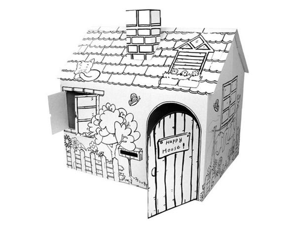 bricolage peinture enfants mini maisons carton papier maison autres jouets loisirs id de. Black Bedroom Furniture Sets. Home Design Ideas