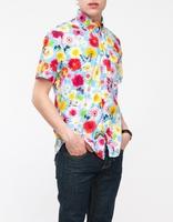 Cheap hawaii short sleeve men unique printing shirt