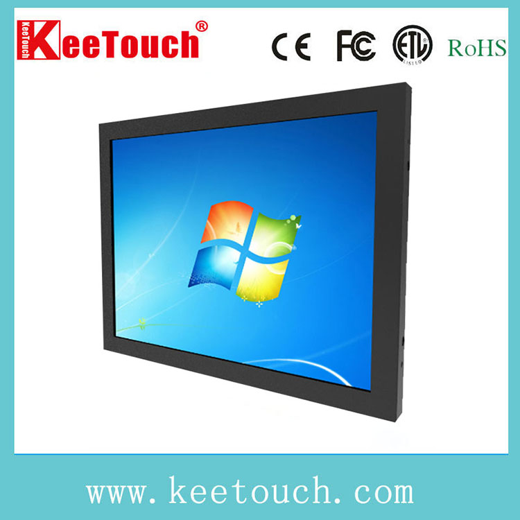 15 Inch multi touch lcd touch monitor, wall mount touch screen monitor