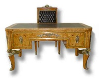 French Empire Style Desk W/ Matching Chair