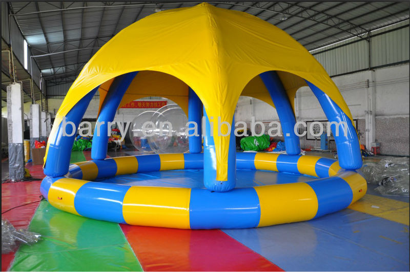 China Supplier Custom Made Cheap Inflatable Pool With Tent Cover