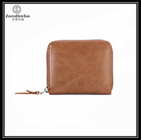 Latest Design Small Zip around Coin Leather Purse Smart Wallet for Women With Gift Boxed