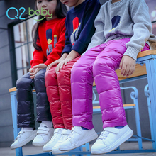 Q2-baby China Promotional Products Full Color Track Thickening Child Winter Down Pants
