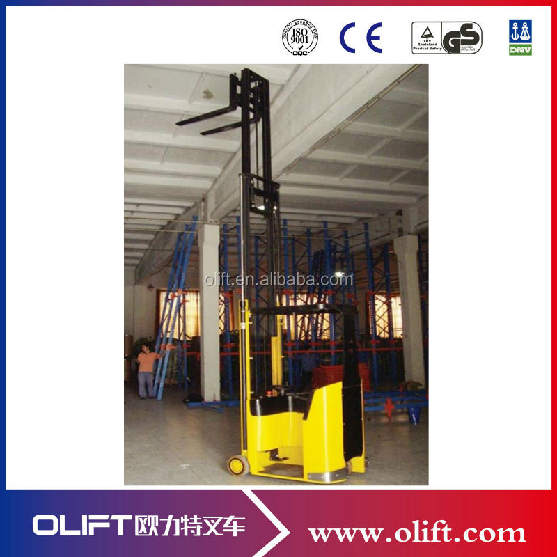 1.0ton narrow aisle small turning radius electric forklift