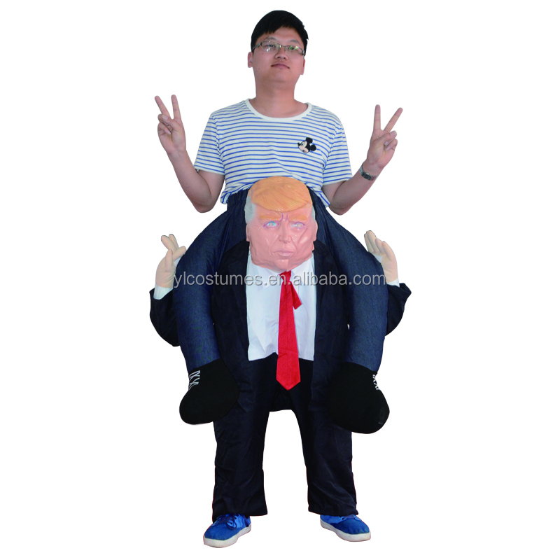 Hot Selling Oktoberfest Ride On Donald Trump Costume Halloween Mascot Costumes