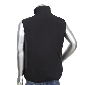 Mens 96% polyester 4% spandex softshell waist coat in spring/autumn