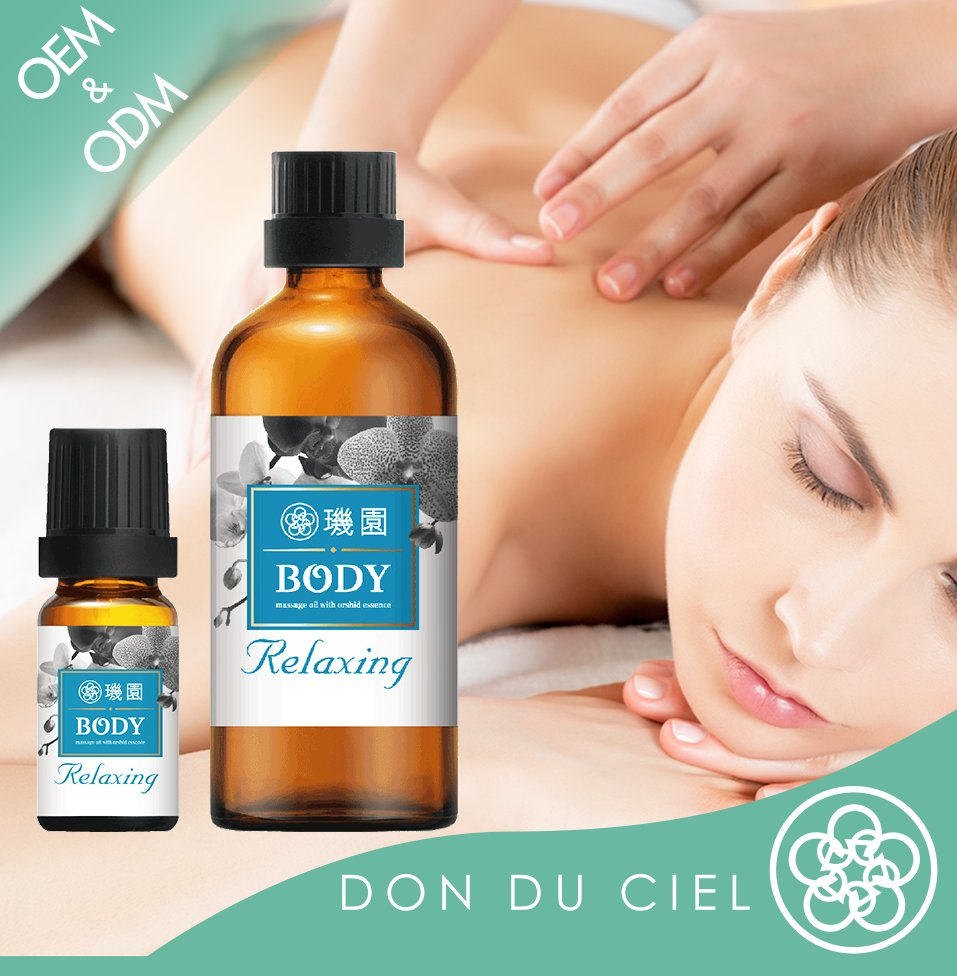 Orchid essential oil of relaxing full body massage oil for women