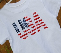 USA T-shirt American flag colors - White - Adults - Men and Women