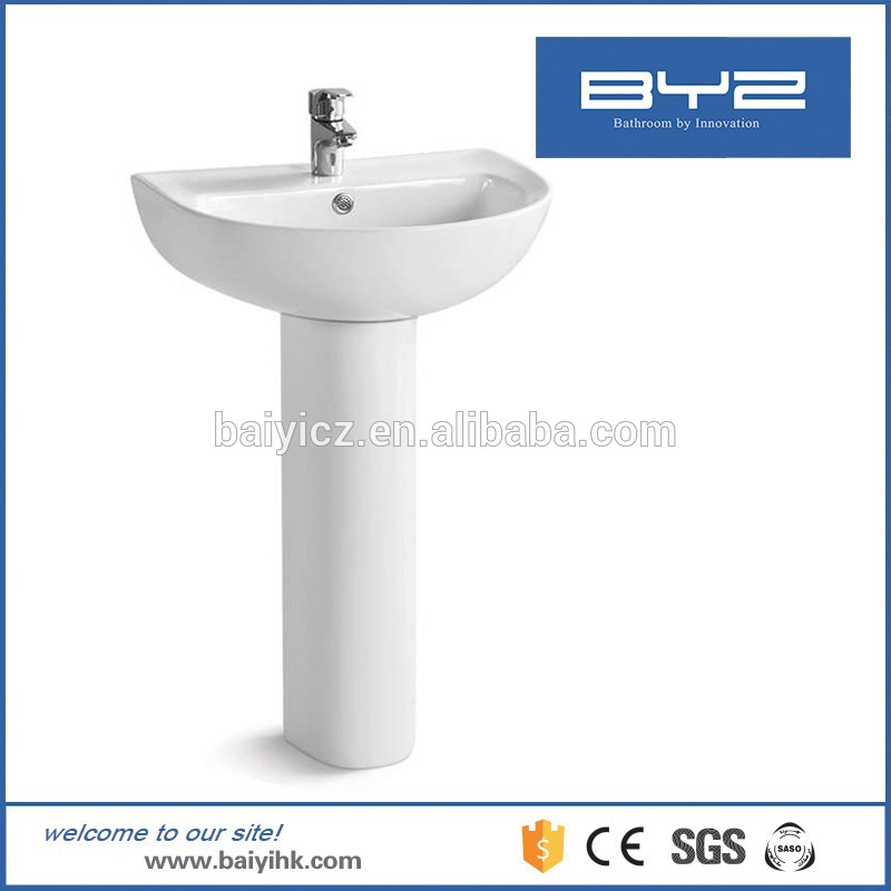 stand alone manufacturer wash basin pedestal