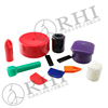 Colorful round flexible soft pvc vinyl end cap, decorative end caps for pipe fittings